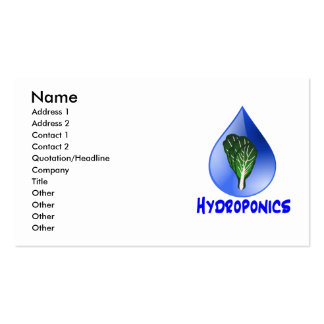 Hydroponics slogan Blue Drop with Lettuce graphic Double-Sided Standard Business Cards (Pack Of 100)