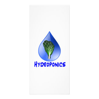 Hydroponics slogan Blue Drop with Lettuce graphic Rack Cards