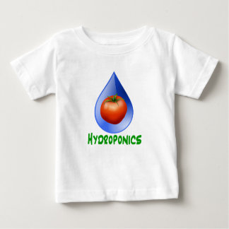 Hydroponics-Tomato, Green Text, Blue drop Baby T-Shirt
