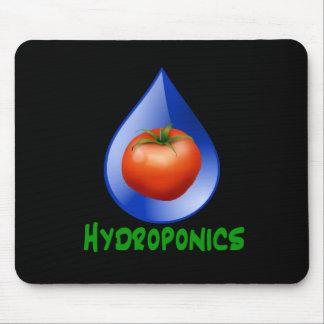 Hydroponics-Tomato, Green Text, Blue drop Mouse Pad