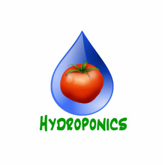 Hydroponics-Tomato, Green Text, Blue drop Photo Cut Outs
