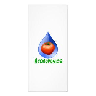 Hydroponics-Tomato, Green Text, Blue drop Rack Card