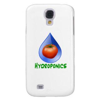 Hydroponics-Tomato, Green Text, Blue drop Samsung Galaxy S4 Case
