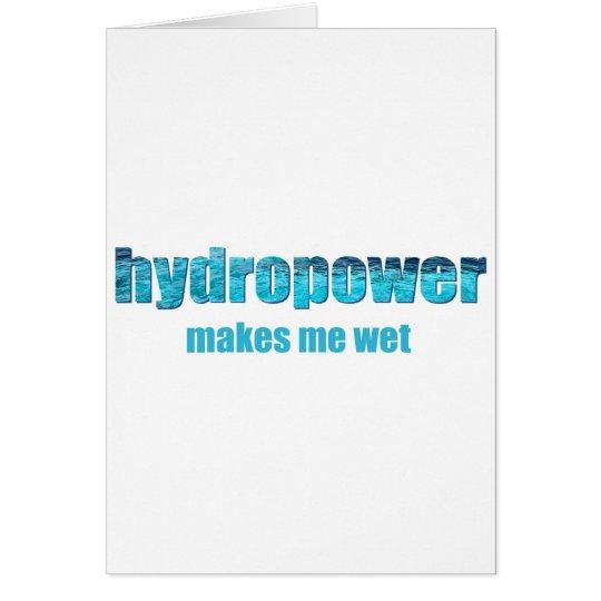 Hydropower Wet! Card