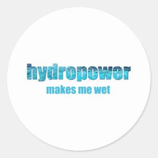 Hydropower Wet! Classic Round Sticker