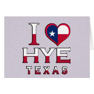 Hye, Texas Greeting Card