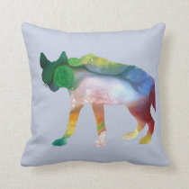 Hyena art throw pillow