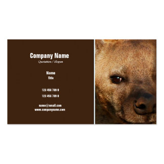 Hyena business profile - customizable business card template