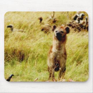 Hyena con el mousepad del wildebeest (gnu)