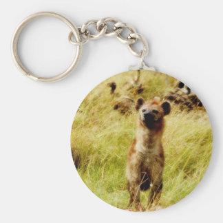 Hyena con el tenedor del llavero del wildebeest (g