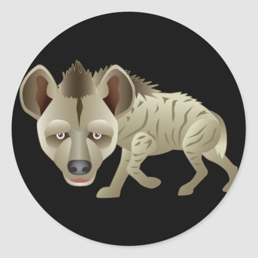 Hyena de Huntin Pegatina Redonda