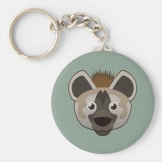 Hyena de papel llavero redondo tipo pin