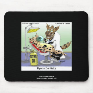 Hyena Dentistry Cartoon Funny Quality Mouse Pad