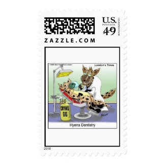 Hyena Dentistry Cartoon On 12 Postage Stamps