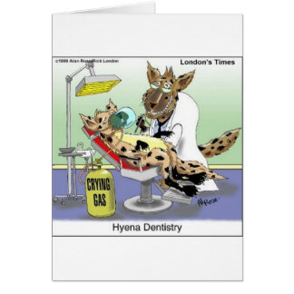 Hyena Dentistry Funny Gifts, Tees & Collectibles Card