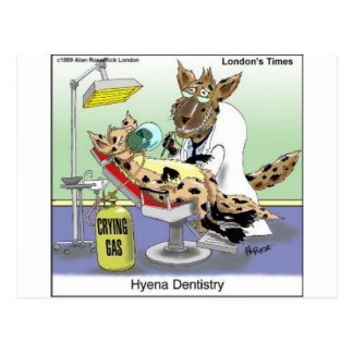 Hyena Dentistry Funny Gifts, Tees & Collectibles Postcard