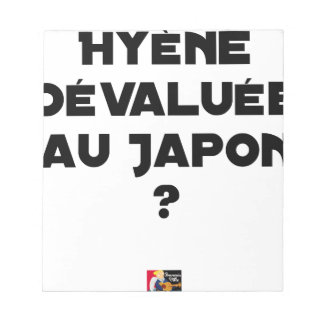 HYENA DEVALUATED IN JAPAN? - Word games Notepad