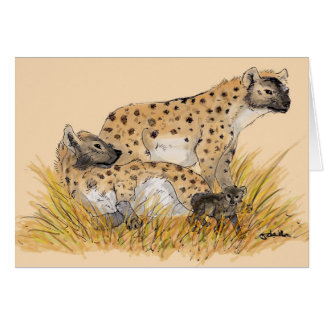 Hyena Family Card