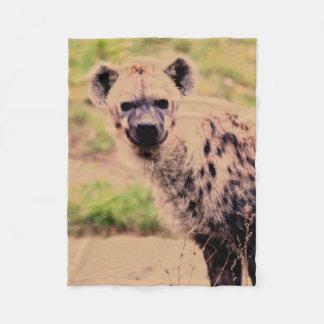 hyena fleece blanket