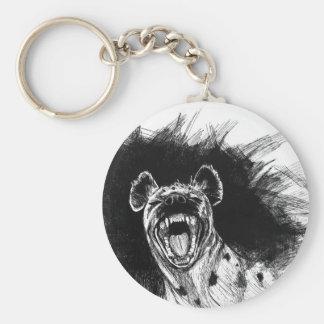 Hyena histérico llavero redondo tipo pin