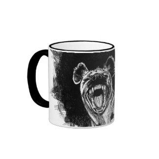 Hyena histérico taza de café
