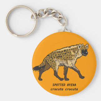 hyena manchado llavero redondo tipo pin