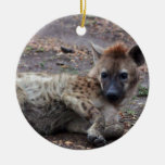 hyena Double-Sided ceramic round christmas ornament