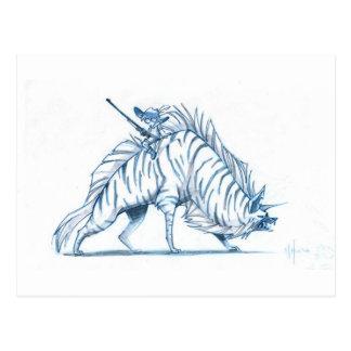 Hyena pelado tarjeta postal