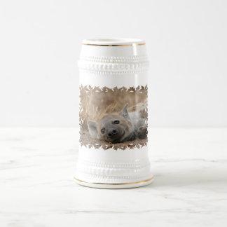 Hyena Picture Beer Stein