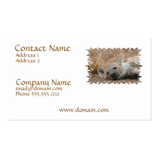 Hyena Picture Business Card