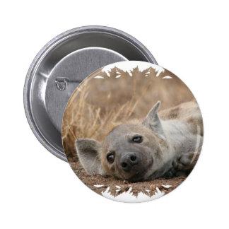 Hyena Picture Round Pin
