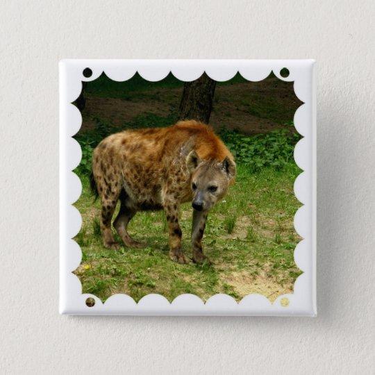 Hyena Prowl Square Pin