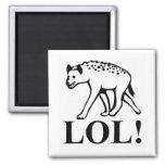 Hyena - risa hacia fuera de LOL ruidoso Imán Cuadrado