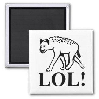 Hyena - risa hacia fuera de LOL ruidoso Iman Para Frigorífico