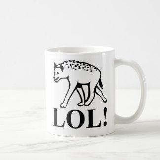 Hyena - risa hacia fuera de LOL ruidoso Taza De Café
