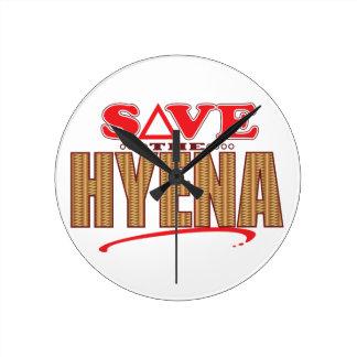 Hyena Save Round Clock