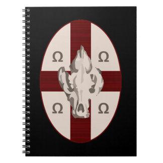 Hyena Shield Spiral Note Books