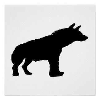 hyena silhouette poster