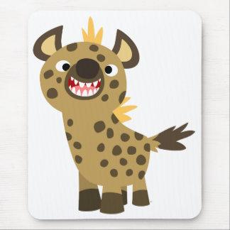 Hyena sonriente lindo Mousepad del dibujo animado
