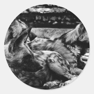 Hyenas Classic Round Sticker