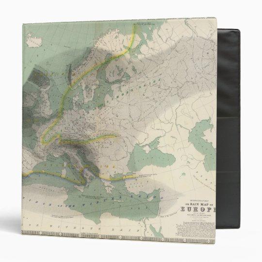 Hyetographic map Europe 3 Ring Binder