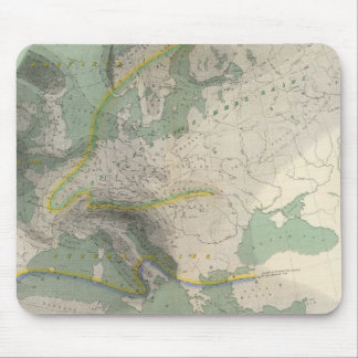 Hyetographic map Europe Mousepads
