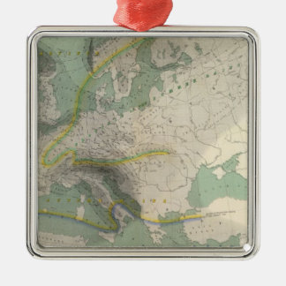 Hyetographic map Europe Ornaments