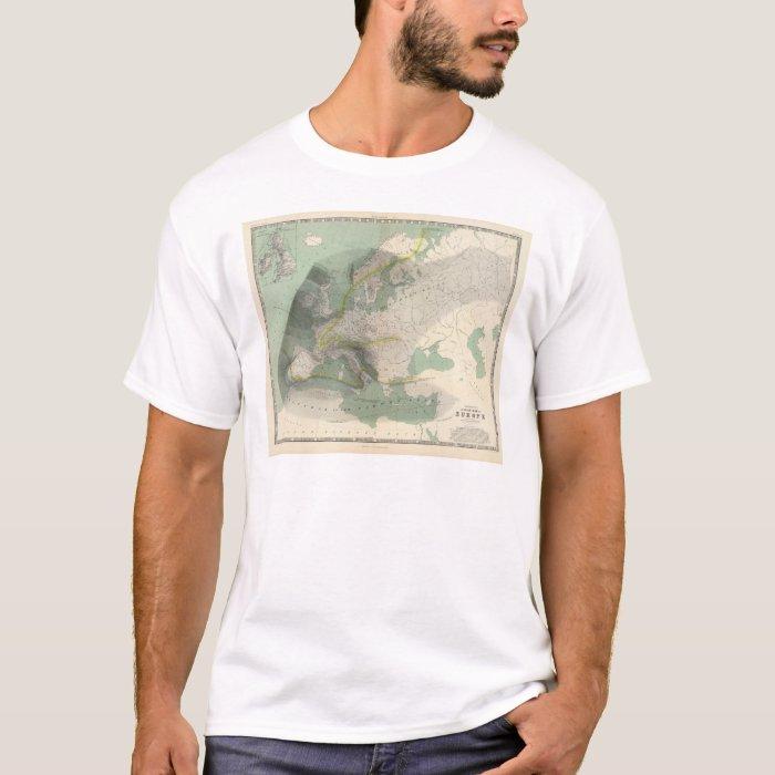 Hyetographic map Europe T-Shirt