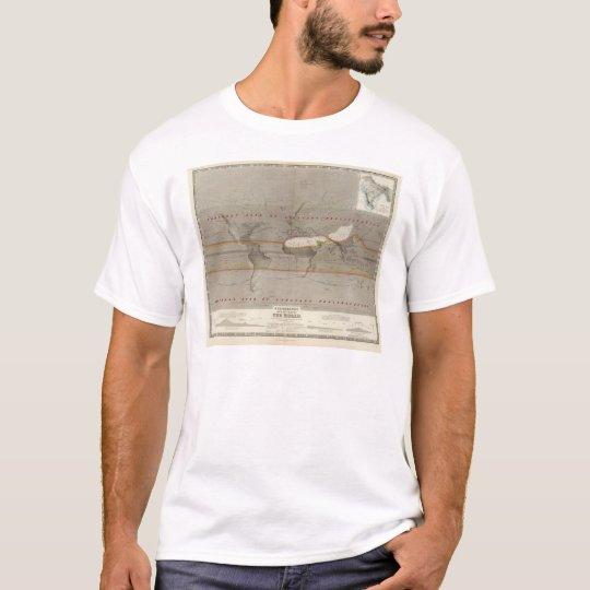Hyetographic rain map T-Shirt