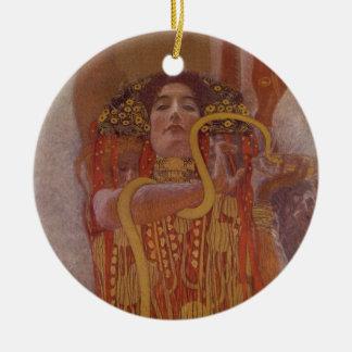 Hygeia by Gustav Klimt Ceramic Ornament