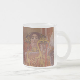 Hygeia by Gustav Klimt Frosted Glass Coffee Mug