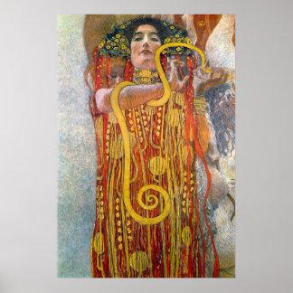 Hygeia by Gustav Klimt Posters