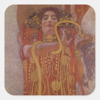 Hygeia by Gustav Klimt Square Sticker