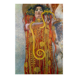 Hygeia de Gustavo Klimt Poster